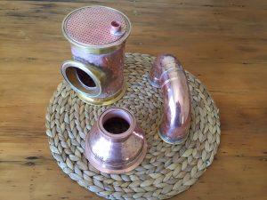 Copper distillation components, copper distillation column, copper sieve plate, copper bubble tee, copper180° bend, copper reducer