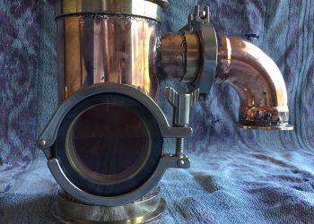 Gin Basket, Copper Gin Basket, Sight Glass, Brass Tri-clamp Ferrule, Still Column, Copper Still, Gin Distillation, Copper Bend, Copper Elbow, Carter Head, Gin Botanicals