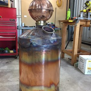 Copper Still, Pot Still, Distillation, Swan Neck, Copper Pot Still, Moonshine, Gin Basket, Sight Glass, Tri-clamp Ferrule, Still Column, Gin Distillation, Distillation Column, Bubble Tee, Whisky Still, Moonshine Still, Alcohol Production, Making Moonshine