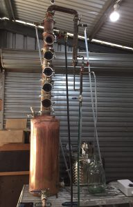 copper still boiler, pot still boiler, distillation boiler, gin basket, pot still neck, pot still, copper pot still, moonshine still, gin basket, copper gin basket, sight glass, brass tri-clamp ferrule, still column, copper still, gin distillation, copper bend, copper elbow, distillation column, bubble tee