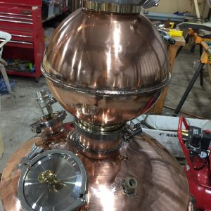 Pot Still Neck, Pot Still, Copper Pot Still, Moonshine Still, Gin Basket, Copper Gin Basket, Sight Glass, Brass Tri-clamp Ferrule, Still Column, Copper Still, Gin Distillation, Copper Bend, Copper Elbow, Distillation Column, Bubble Tee