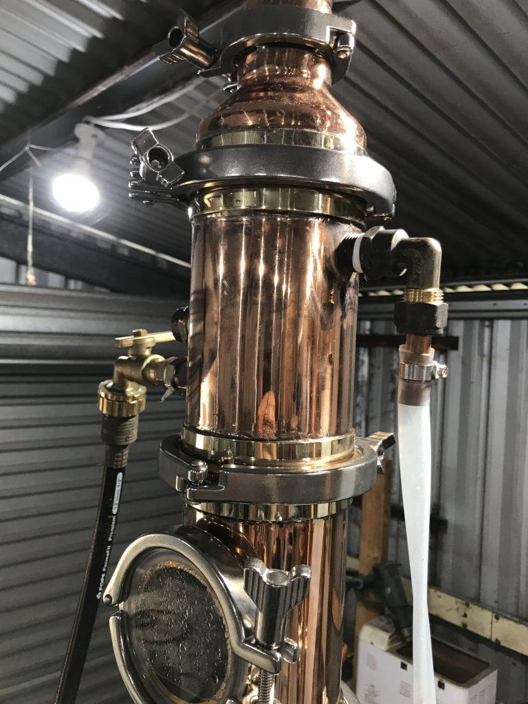 copper boiler, copper still, whisky still, distillation, copper condenser, condenser, copper dephlegmator, dephlegmator
