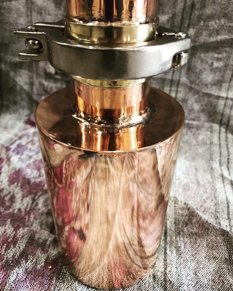 copper pot still, copper gin still, gin, botanicals, juniper, test still, copper still