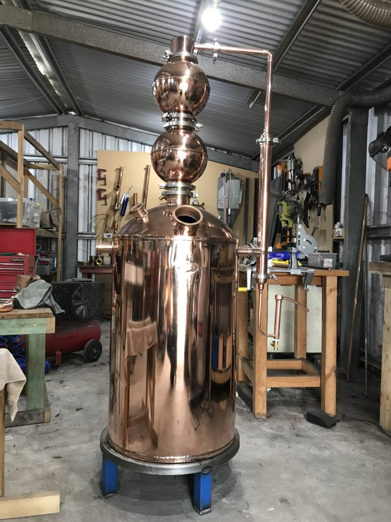 pot still, gin still, copper still, gin basket