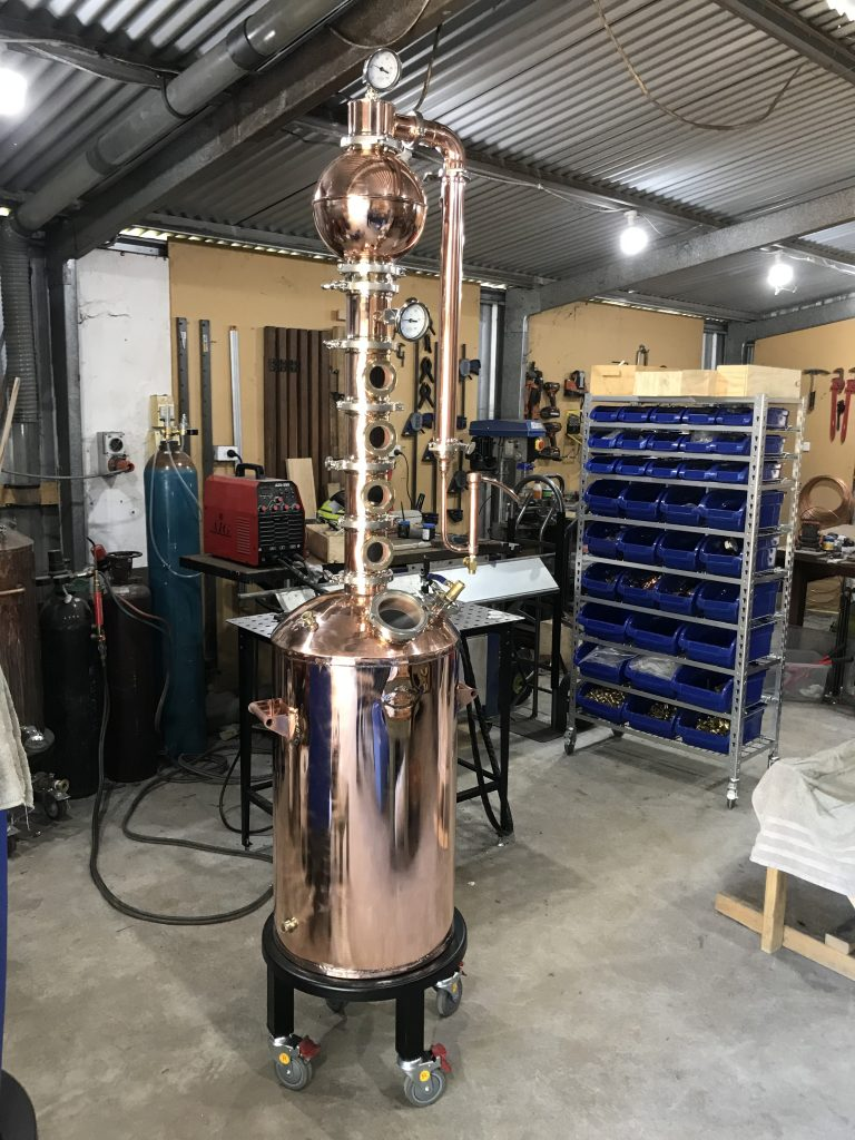gin still, copper still, gin basket