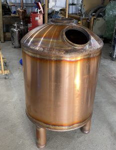 copper boiler, copper still, distillation, whisky still, pot still, copper pot still, gin still