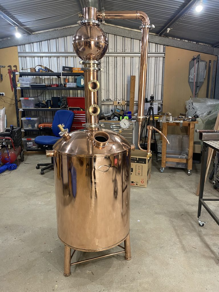 gin still, copper still, gin basket, onion ball