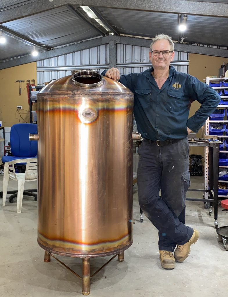 copper boiler, copper still, pot still, reflux still, gin still, whisky still,